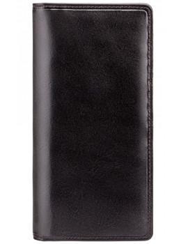 Чёрный кошелек мужской Visconti MZ6 Turin c RFID Italian Black