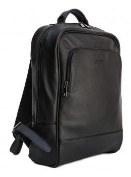 Чорний молодіжний шкіряний рюкзак Newery N1003GA