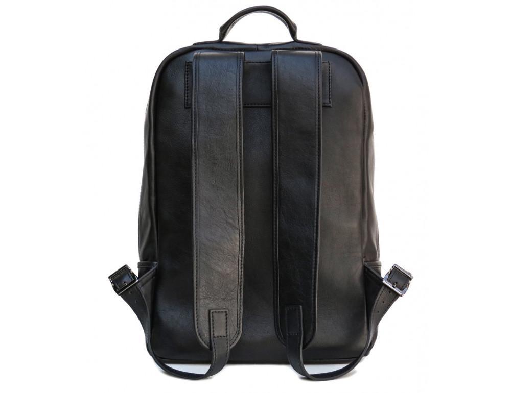 Черный молодежный кожаный рюкзак Newery N1003GA - Фото № 2