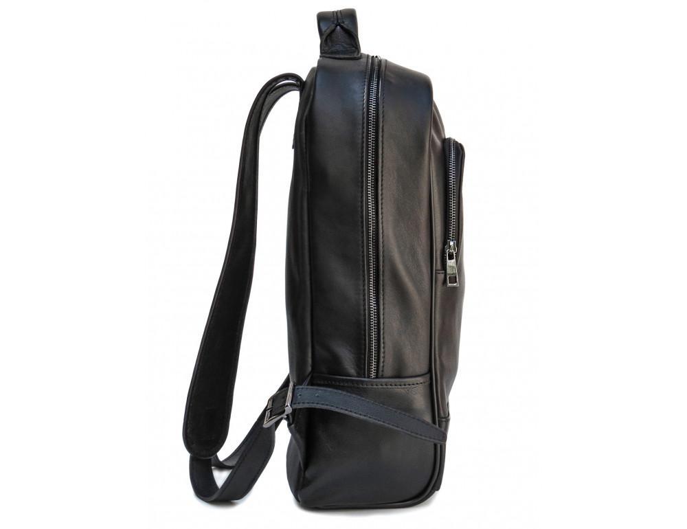 Черный молодежный кожаный рюкзак Newery N1003GA - Фото № 3