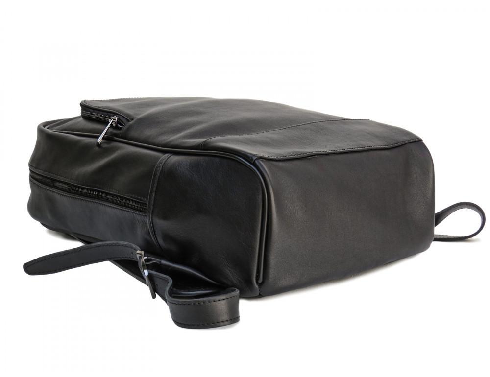 Черный молодежный кожаный рюкзак Newery N1003GA - Фото № 8