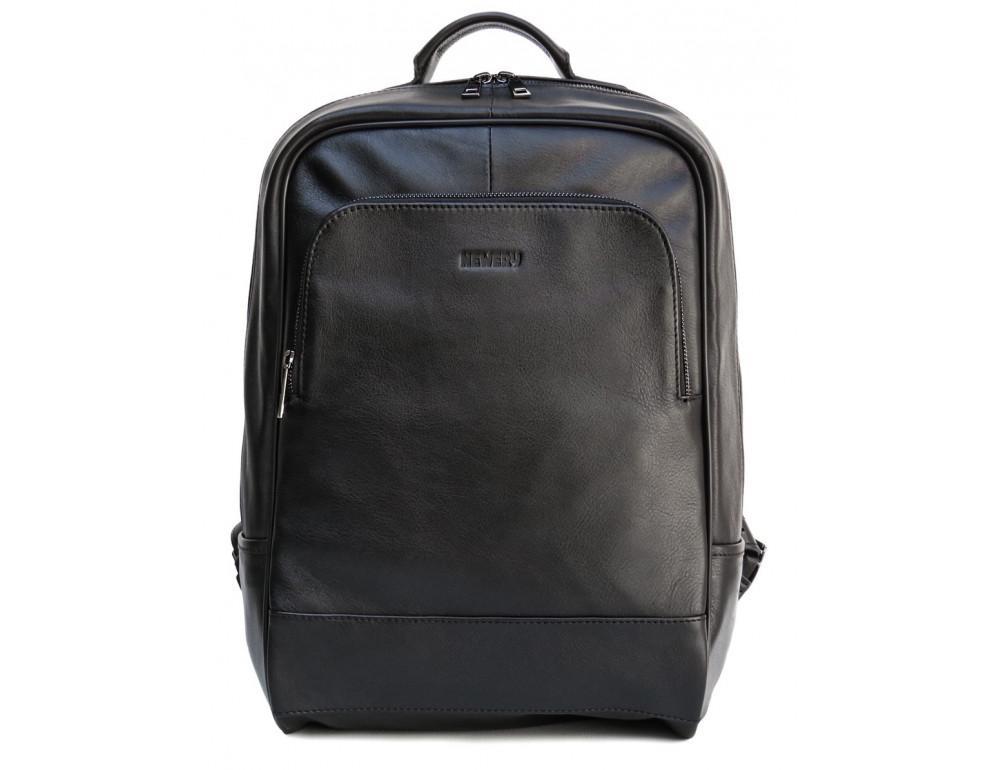 Черный молодежный кожаный рюкзак Newery N1003GA - Фото № 6
