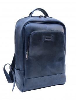 Синий мужской кожаный рюкзак из винтажной кожи Newery N1003KB