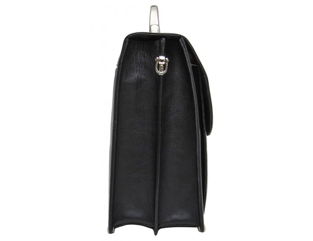 Чёрный кожаный портфель на два отделения Newery N1587GA - Фото № 5