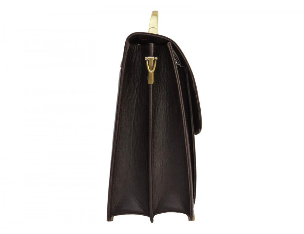 Коричневый мужской кожаный портфель Newery N1587GC - Фото № 3