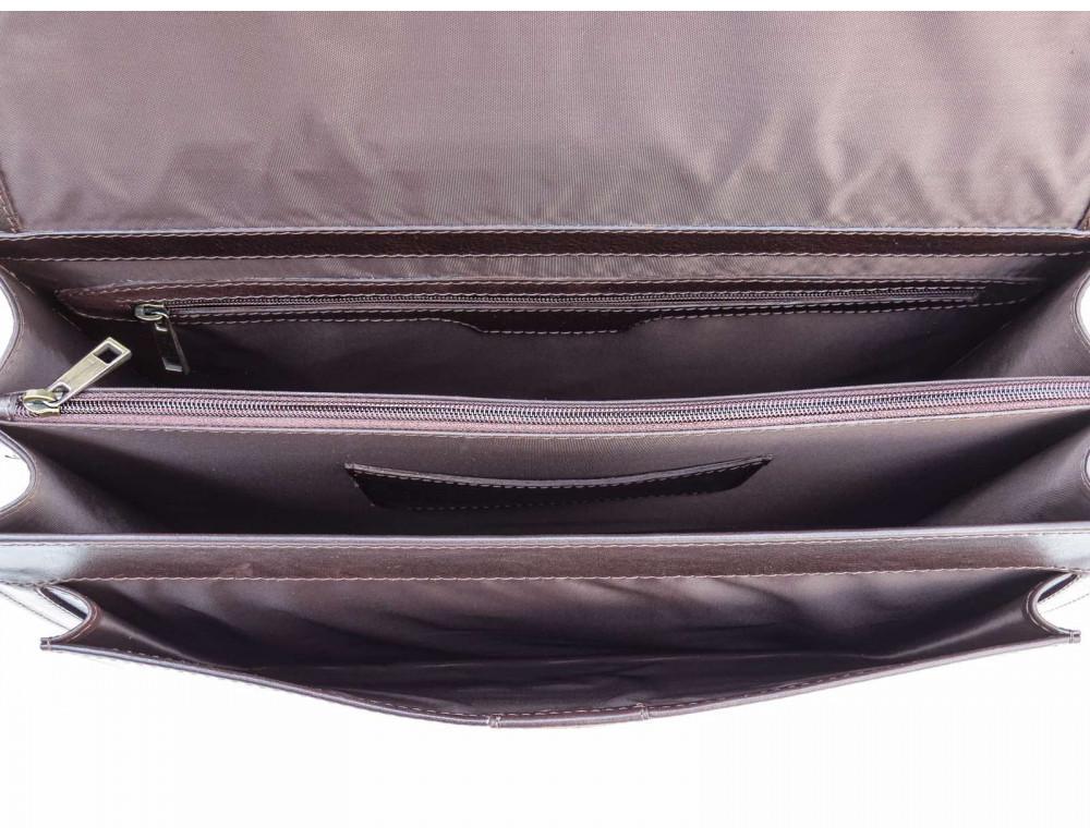 Коричневый мужской кожаный портфель Newery N1587GC - Фото № 9
