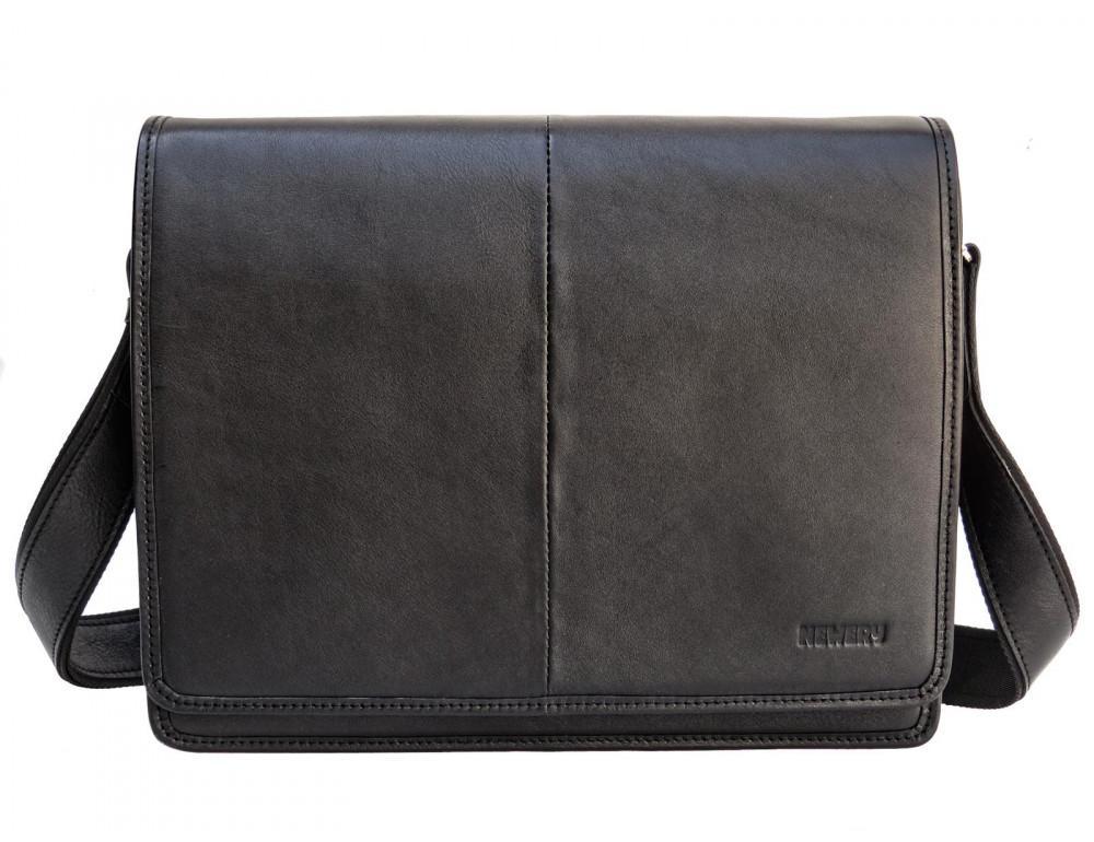 Черная классическая сумка через плечо Newery N1921GA