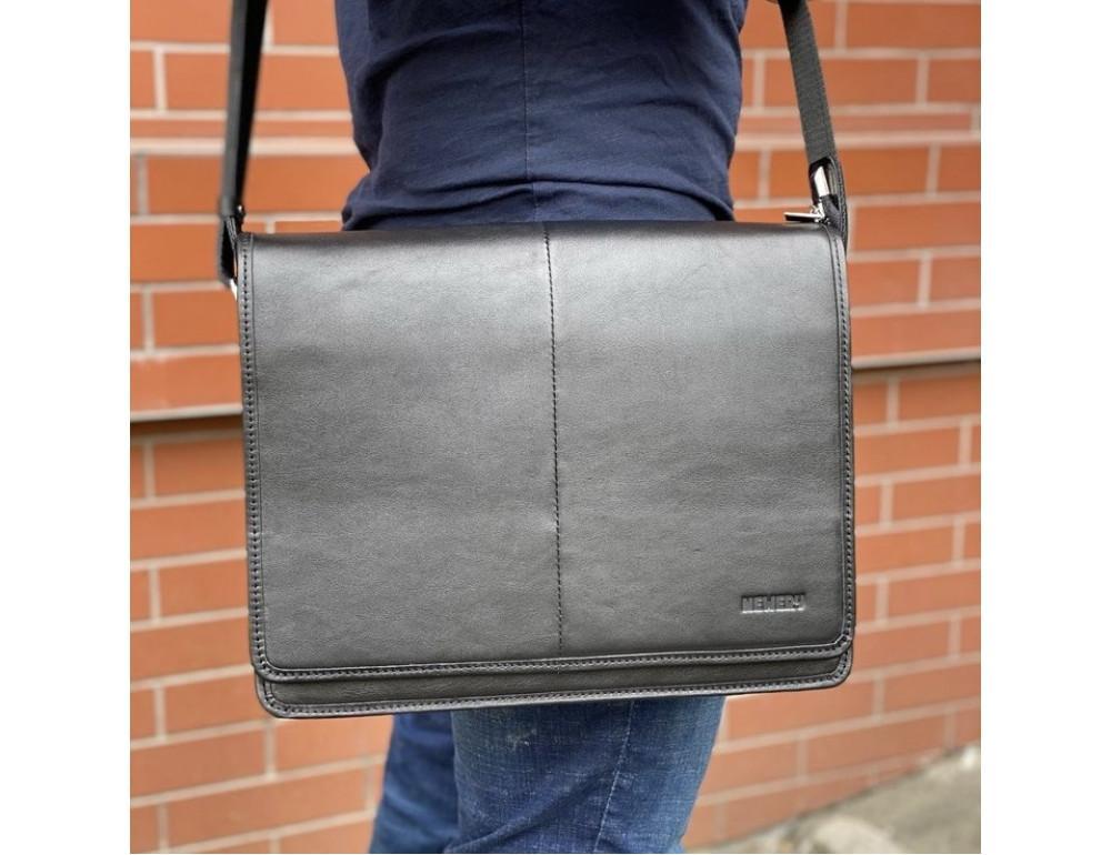 Черная классическая сумка через плечо Newery N1921GA - Фото № 2