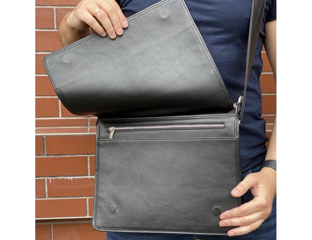 Черная классическая сумка через плечо Newery N1921GA - Фото № 3