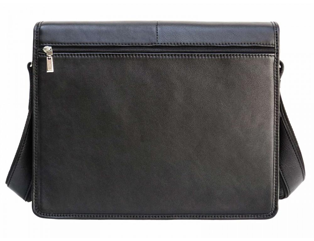 Черная классическая сумка через плечо Newery N1921GA - Фото № 4