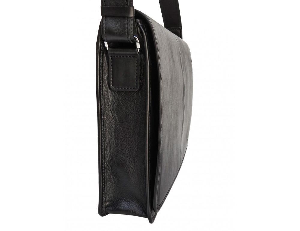 Черная классическая сумка через плечо Newery N1921GA - Фото № 5