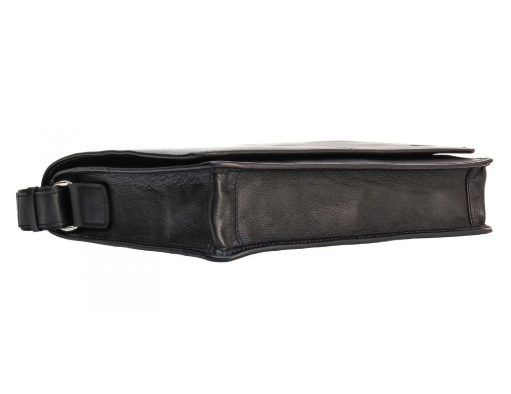 Черная классическая сумка через плечо Newery N1921GA - Фото № 6