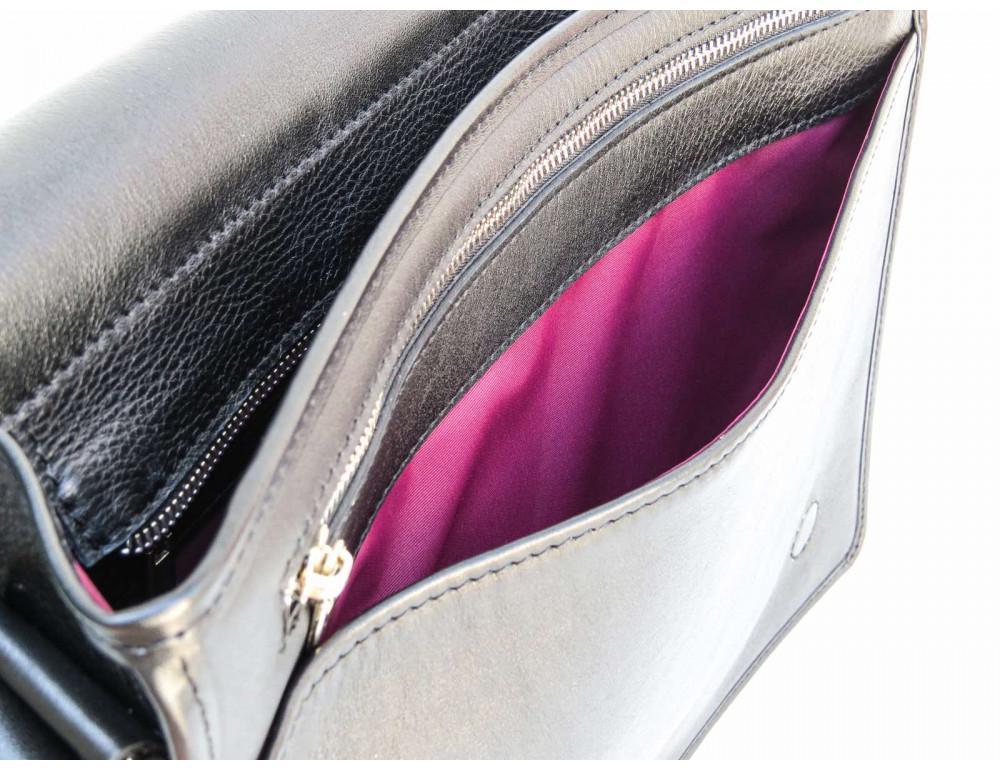 Черная классическая сумка через плечо Newery N1921GA - Фото № 8