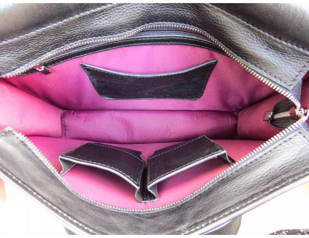 Черная классическая сумка через плечо Newery N1921GA - Фото № 9