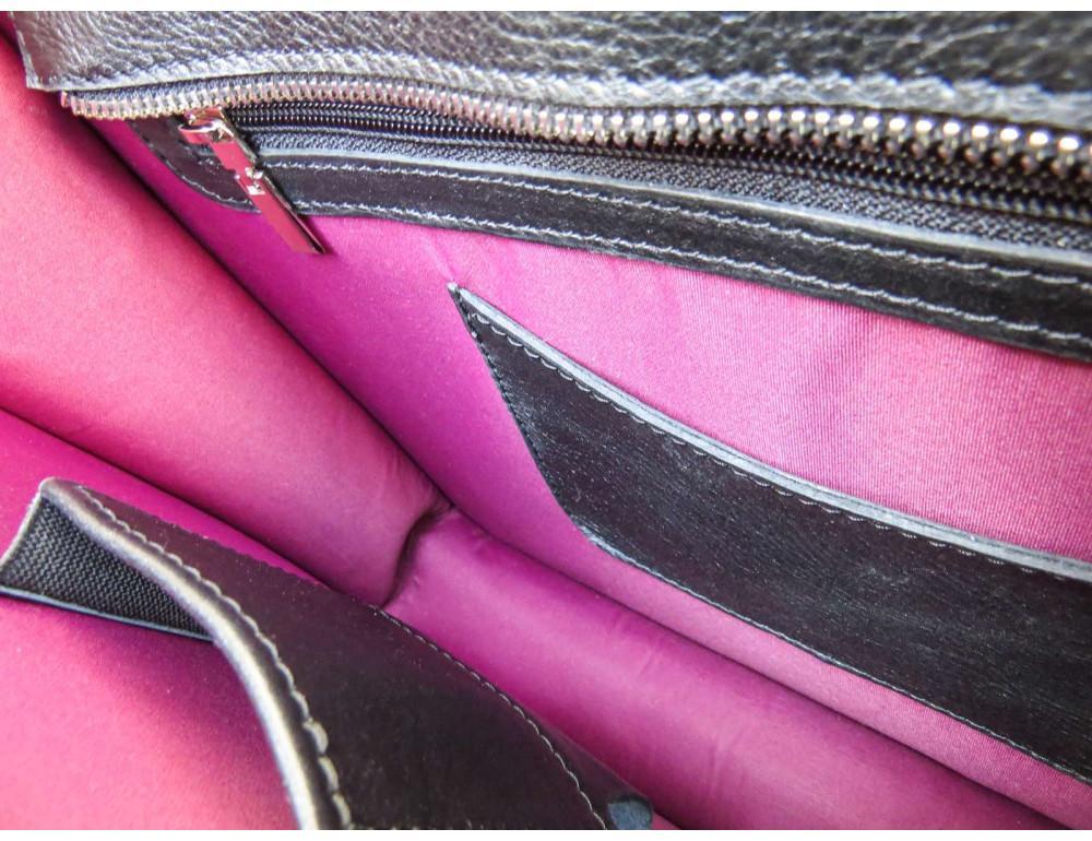Черная классическая сумка через плечо Newery N1921GA - Фото № 10