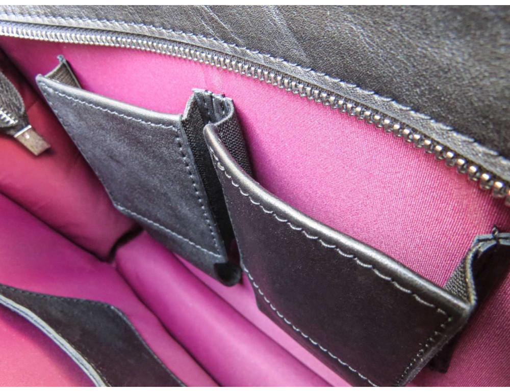 Черная классическая сумка через плечо Newery N1921GA - Фото № 11