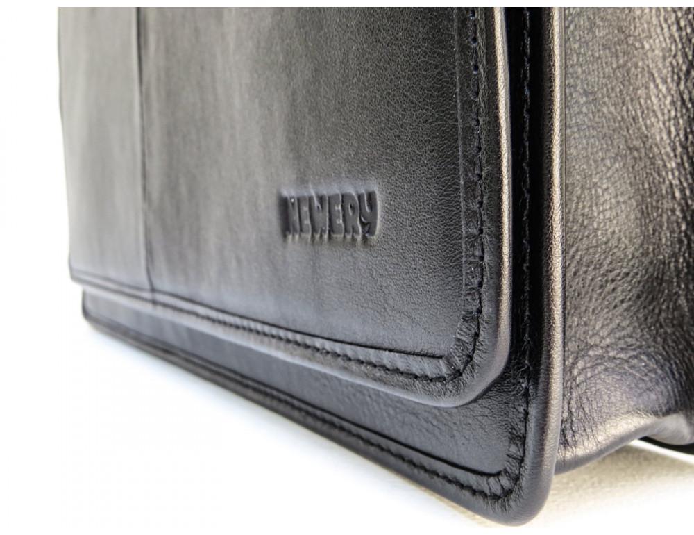 Черная классическая сумка через плечо Newery N1921GA - Фото № 12