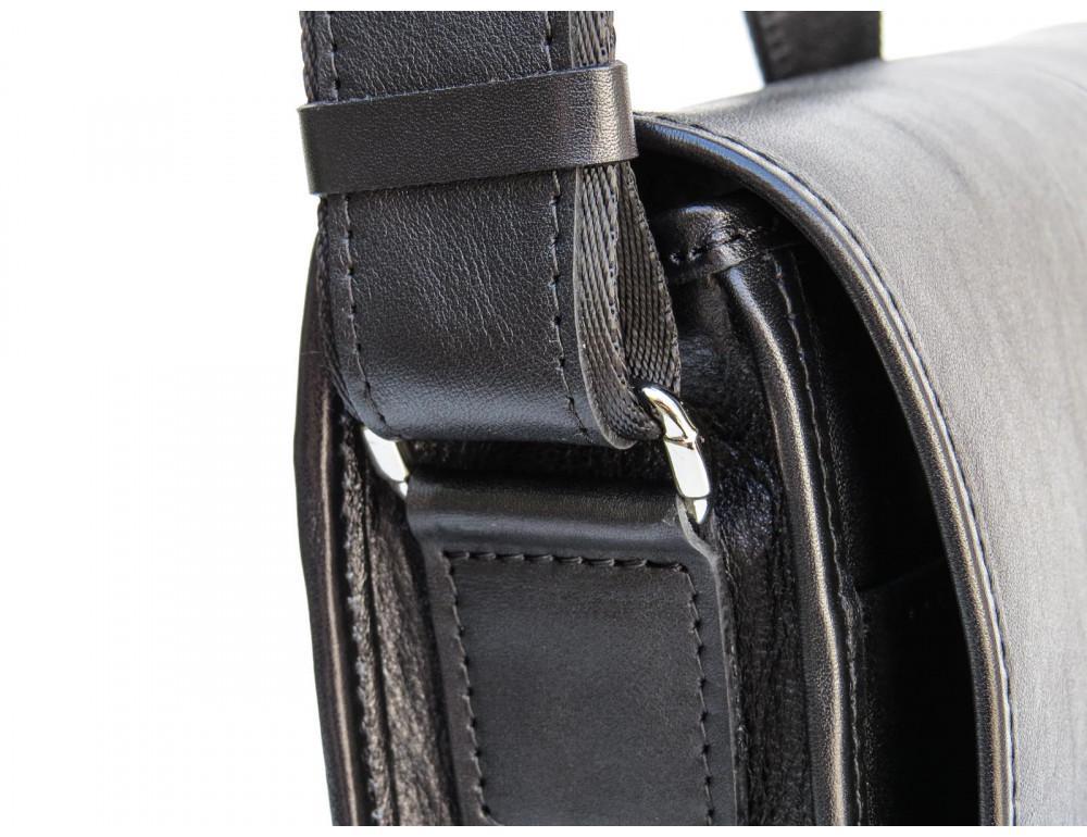 Черная классическая сумка через плечо Newery N1921GA - Фото № 13