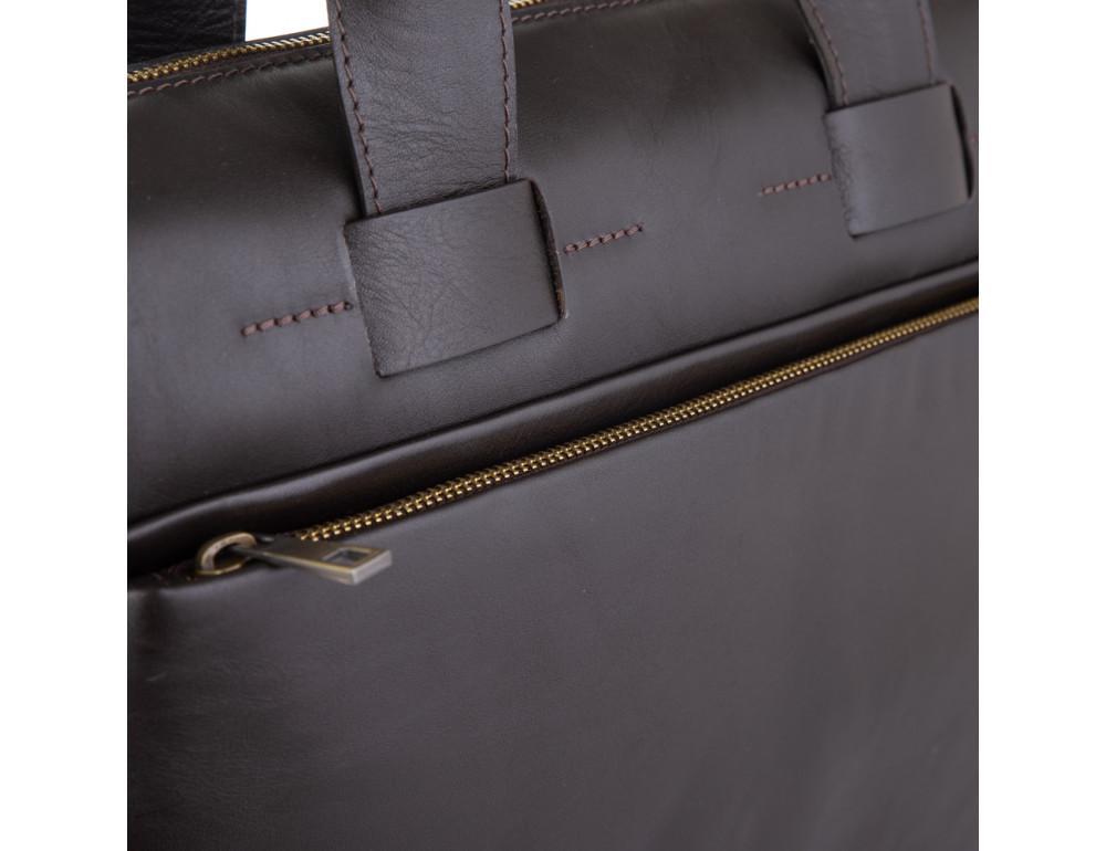 Брендовая кожаная сумка под документы NEWERY N1930GC - Фото № 5