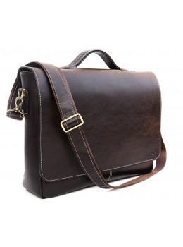 Коричневая кожаная сумка через плечо Newery N1960GC
