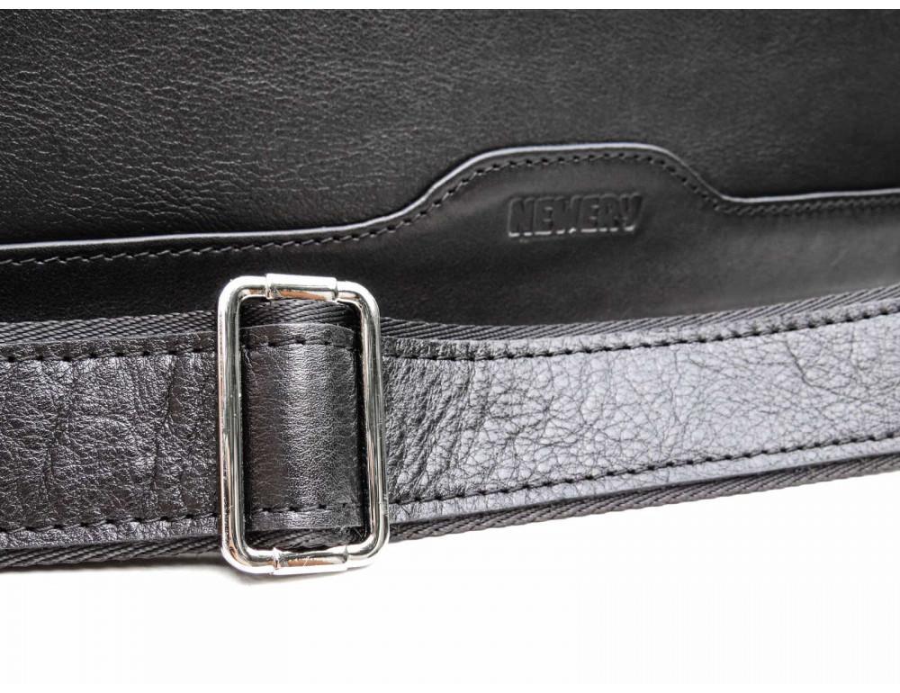 Большая классическая сумка через плечо Newery N1990GA - Фото № 10