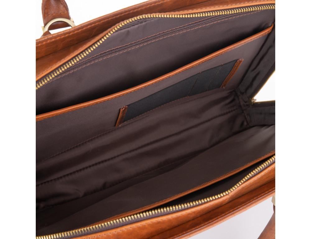 Рудий шкіряний портфель Newery N1992CRC - Фотографія № 5