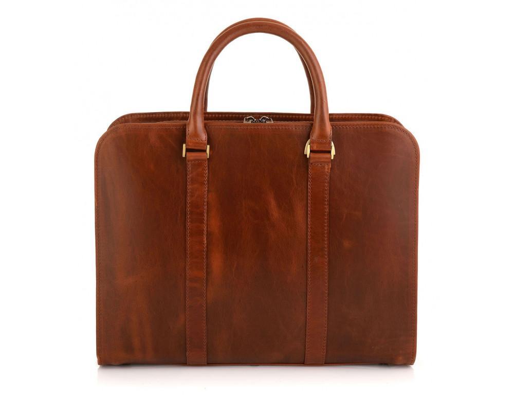 Рудий шкіряний портфель на 13 дюймів Newery N1992GC - Фотографія № 2