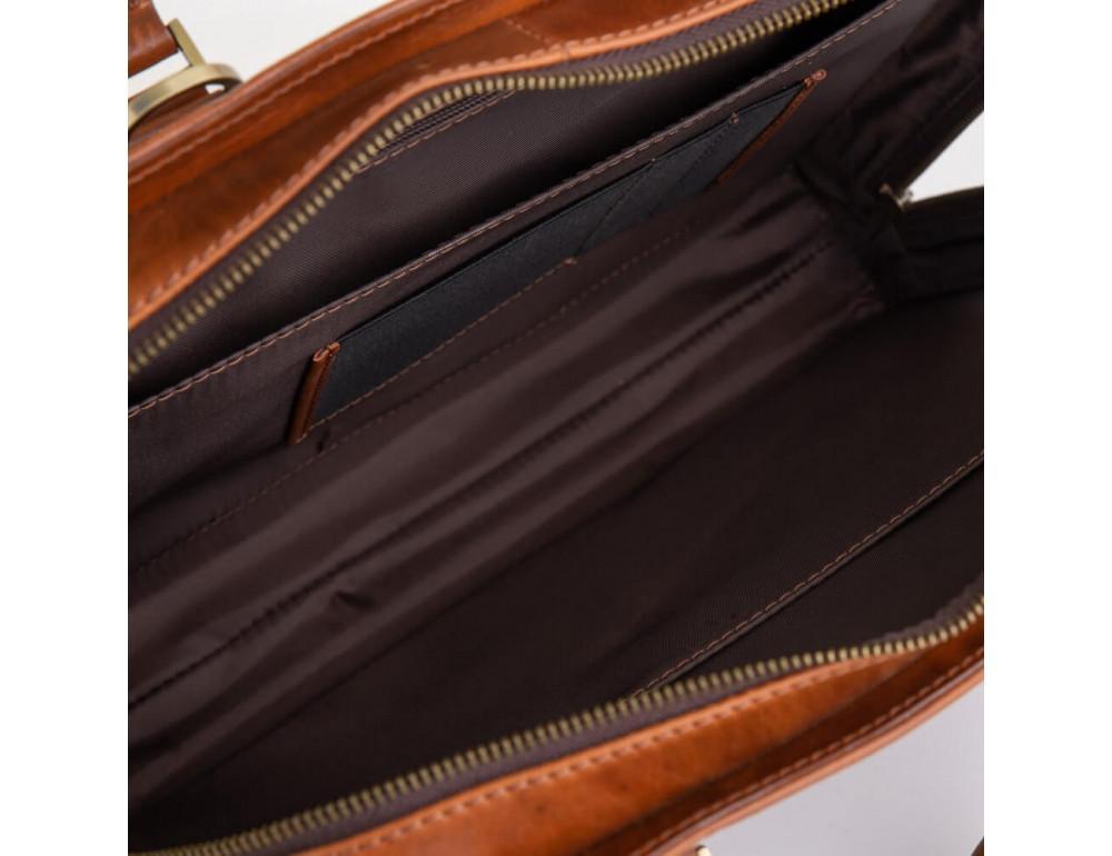 Рудий шкіряний портфель на 13 дюймів Newery N1992GC - Фотографія № 5