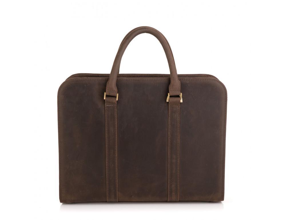 Стильный портфель из винтажной кожи коричневого цвета Newery N1992KC - Фото № 2