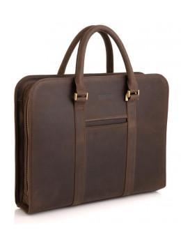 Стильний портфель з вінтажній шкіри коричневого кольору Newery N1992KC