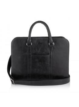 Чёрная каркасная сумка из необычной кожи Newery N1992NA