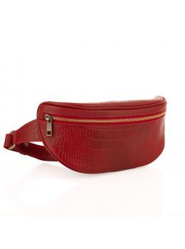 Красная сумка на пояс из кожи под крокодила Newery N40298CRR