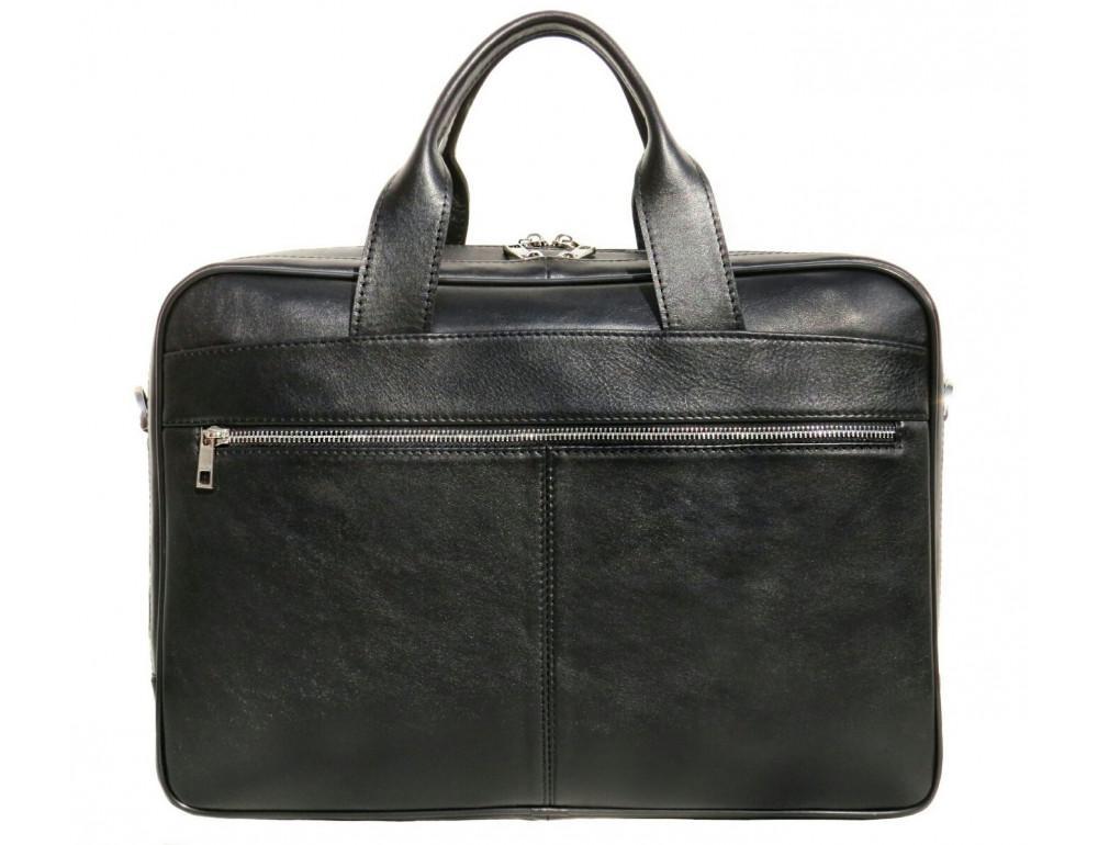 Чёрная деловая мужская сумка Newery N4032GA - Фото № 3