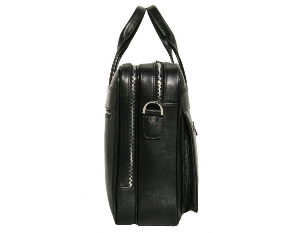Чёрная деловая мужская сумка Newery N4032GA - Фото № 4