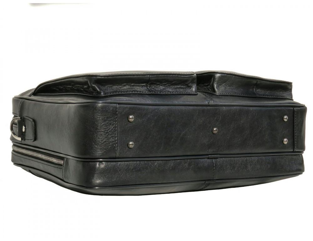 Чёрная деловая мужская сумка Newery N4032GA - Фото № 5