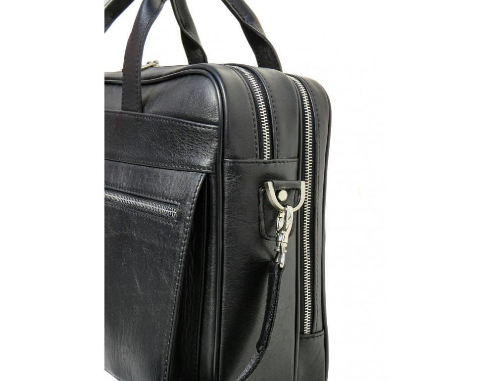 Чёрная деловая мужская сумка Newery N4032GA - Фото № 6
