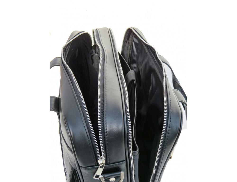 Чёрная деловая мужская сумка Newery N4032GA - Фото № 7