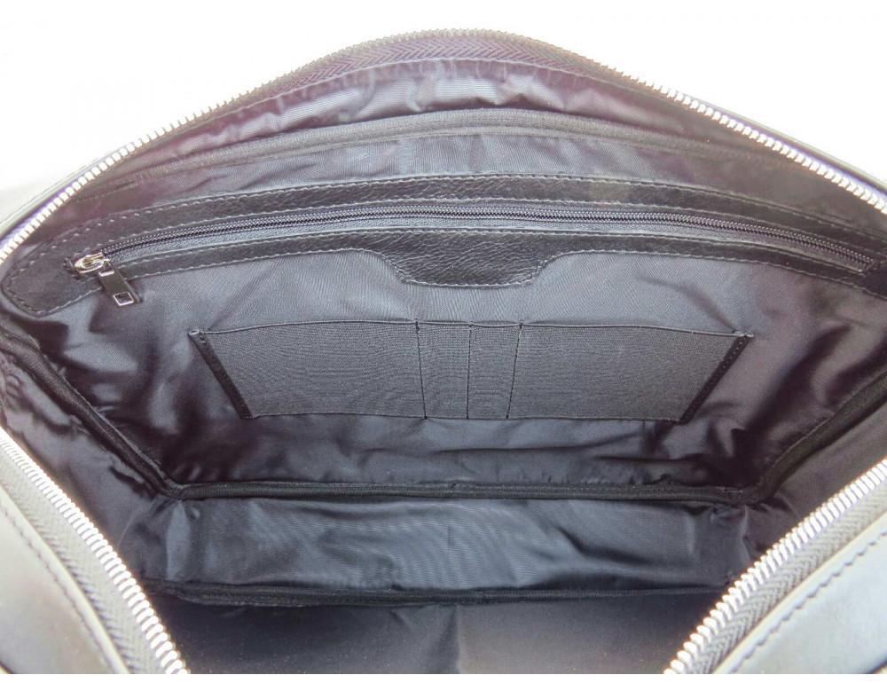 Чёрная деловая мужская сумка Newery N4032GA - Фото № 8