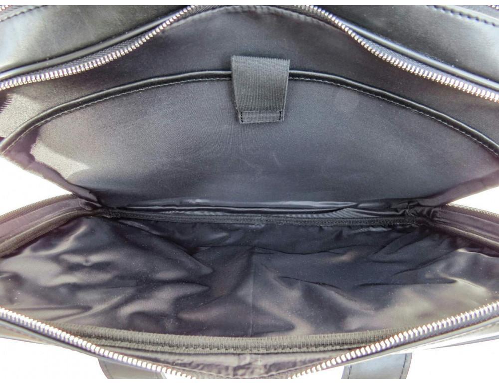 Чёрная деловая мужская сумка Newery N4032GA - Фото № 9
