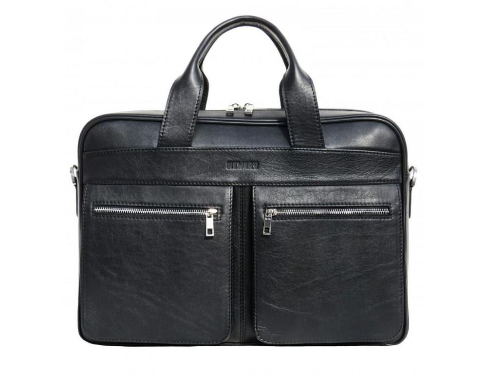 Чёрная деловая мужская сумка Newery N4032GA
