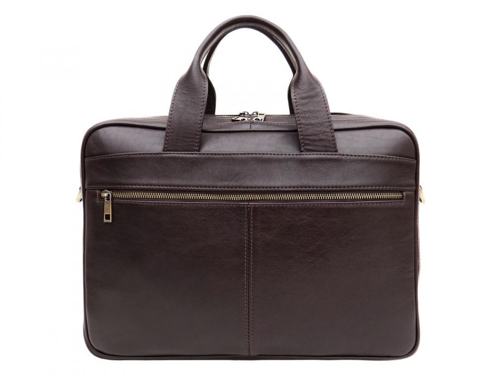 Коричневая мужская сумка под документы с двумя отделениями Newery N4032GC - Фото № 2