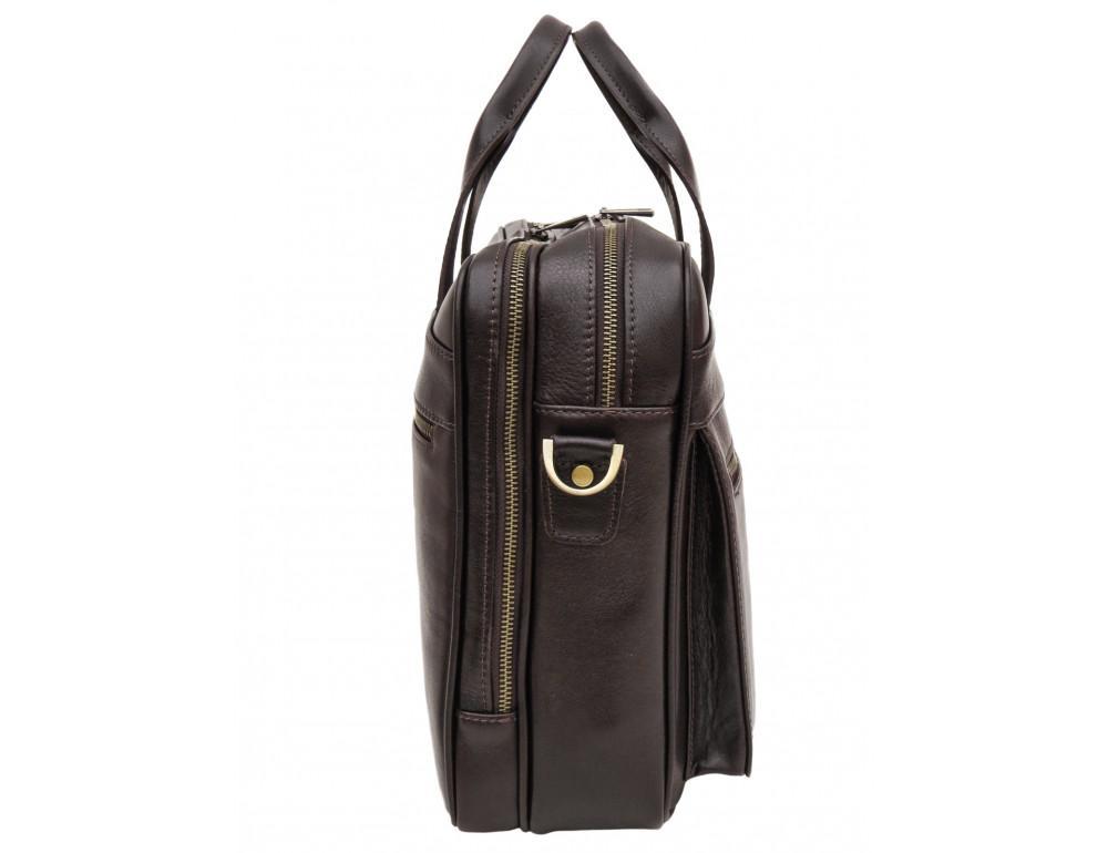 Коричневая мужская сумка под документы с двумя отделениями Newery N4032GC - Фото № 3