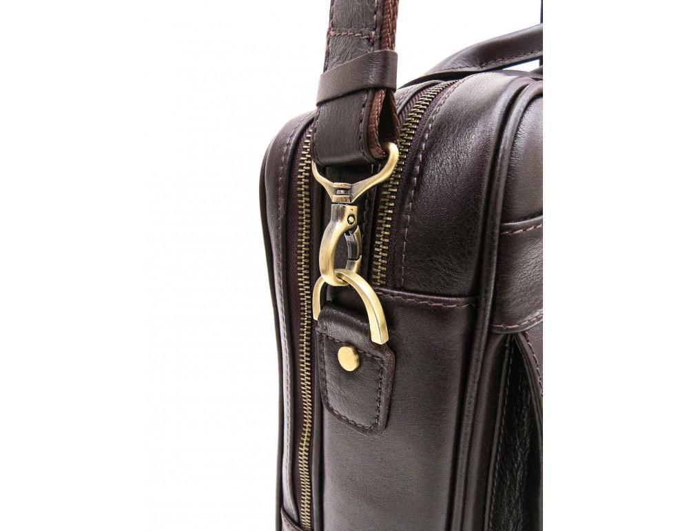 Коричневая мужская сумка под документы с двумя отделениями Newery N4032GC - Фото № 4