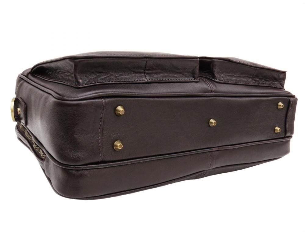 Коричневая мужская сумка под документы с двумя отделениями Newery N4032GC - Фото № 5
