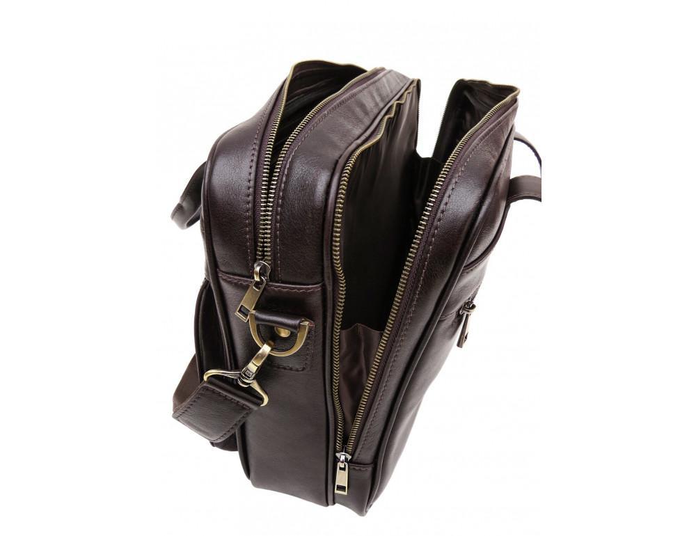 Коричневая мужская сумка под документы с двумя отделениями Newery N4032GC - Фото № 6