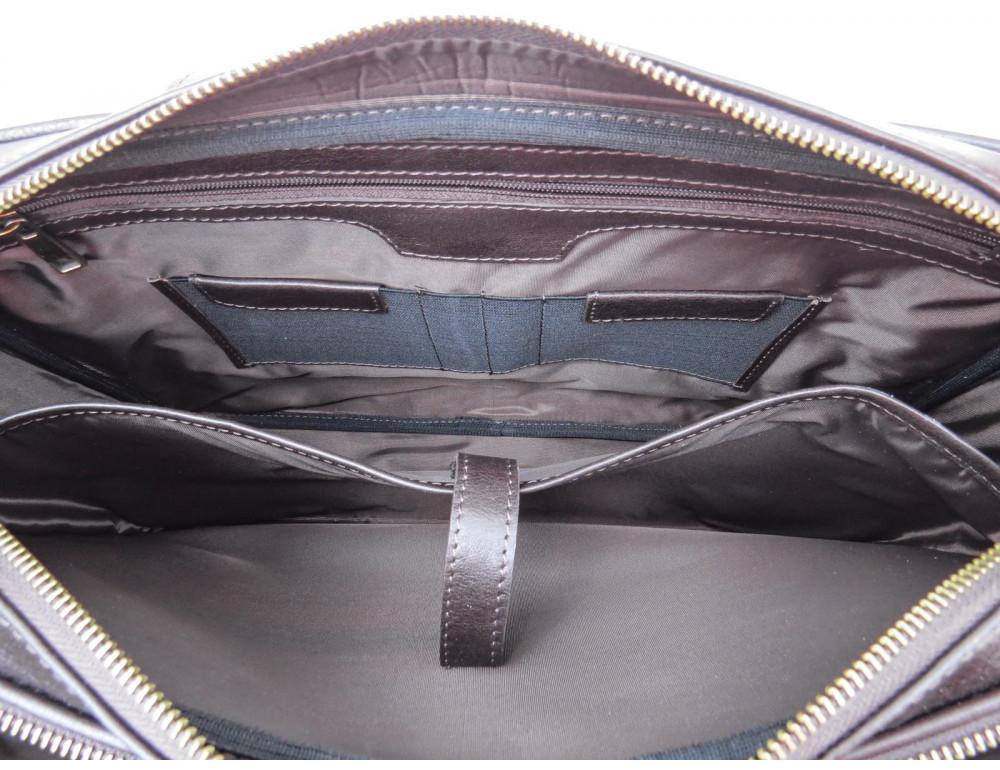 Коричневая мужская сумка под документы с двумя отделениями Newery N4032GC - Фото № 7