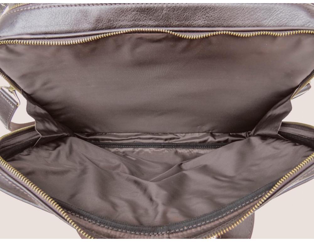 Коричневая мужская сумка под документы с двумя отделениями Newery N4032GC - Фото № 8