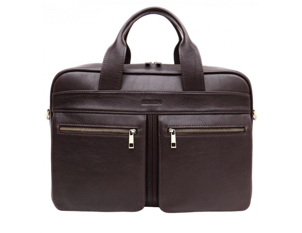 Коричневая мужская сумка под документы с двумя отделениями Newery N4032GC - Фото № 1