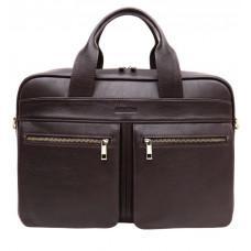Коричневая мужская сумка под документы с двумя отделениями Newery N4032GC