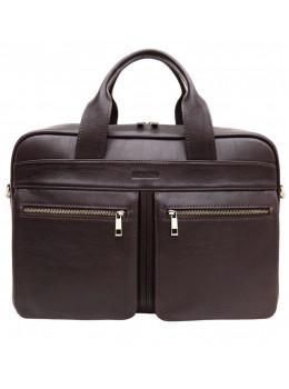 Коричнева чоловіча сумка під документи з двома відділеннями Newery N4032GC